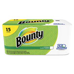 Bounty Perforated Towel Rolls, 2-Ply, White, 11 x 10 1/5, 40 Sheets/Roll, 15 Roll/Pack