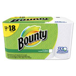 Bounty Perforated Towel Rolls, 2-Ply, White, 11 x 10 1/5, 60 Sheets/Roll, 12 Roll/Pack