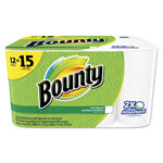 Bounty Perforated Towel Rolls, 2-Ply, White, 11 x 10 1/5, 50 Sheets/Roll, 12 Roll/Pack