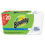 "Bounty Perforated Towel Rolls, 2-Ply, White, 5.9"" x 11"", 8/Pack"