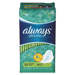 Always® Ultra Thin Pads with Wings, Super Long, 32/Pack