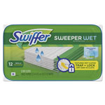 Swiffer Wet Refill Cloths, Open Window Fresh, Cloth, White, 8 x 10, 12/Tub