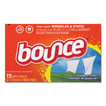 Bounce Fabric Softener Sheets, Outdoor Fresh, 15/Box, 24 Box/Carton