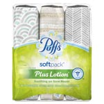 Puffs Plus Lotion Facial Tissue, White, 2-Ply, 96/SoftPack, 3 Softpacks/Pack