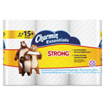 Charmin Essentials Strong Bathroom Tissue, 1-Ply, 4 x 3.92, 300/Roll, 6 Rl/Pk, 8 Pk/Ctn