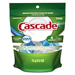 Cascade ActionPacs, Fresh Scent, 2.5 oz Bag, 4/Bag, 42 Bag/Carton