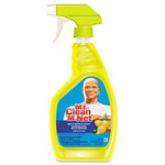 Mr. Clean Multipurpose Cleaning Solution, Lemon Scent, 32 oz Spray Bottle, 12/Carton