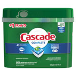 Cascade ActionPacs, Fresh Scent, 22.5 oz Tub, 43/Tub, 6 Tubs/Carton