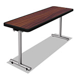 Nomad aero Mobile Folding Table, 60 x 24 x 29, Walnut