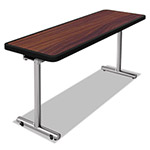 Nomad aero Mobile Folding Table, 72 x 24 x 29, Walnut