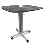 Nomad Reload Mobile Charging Table, 36 x 36 x 29, Pewter
