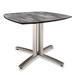 Nomad Story Squircle Table, 36 x 36 x 29, Pewter