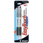 Pilot Retractable Ballpoint Pens, Refillable, Med. Point, Black Ink, 2/Pack