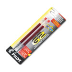 Pilot Refills for G2 Gel, Dr. Grip Gel, ExecuGel Roller, Extra Fine, Red Ink, 2/Pack