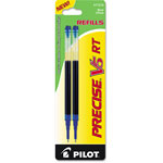 Pilot Refills for Precise V5 RT Rolling Ball Pens, Extra Fine Point, Blue Ink, 2/Pack