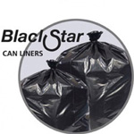 Penny Lane Black Star Low-Density Can Liners, 55 gal, 0.7 mil, 36 x 58, Black