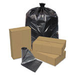 Pitt Plastics Linear Low Density Repro Can Liners, 40-45gal, 1.2 Mil, 40 X 46, Black, 100/ct