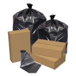 Pitt Plastics Eco Strong Can Liners, 45 Gal, 1.5 Mil, 40 X 46, Black, 100/carton