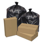 Pitt Plastics Eco Strong Can Liners, 56 Gal, 43 X 47, 1.2 Mil, 100/carton