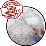 Penny Lane High-Density Mini-Roll Can Liners, 12-16 gal, 6 mic, 24 x 33, Natural Color