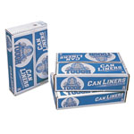 Pitt Plastics Linear Low Density Can Liners, 60 Gal, 0.75 Mil, 38 X 58, White, 100/carton
