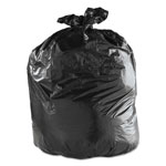 Pitt Plastics Tru-Mil Low Density Can Liners, 55 Gal, 1.8 Mil, 36 X 58, Black, 50/carton