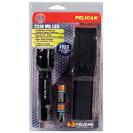 Pelican M6 LED Flashlight, Black Body, with 2 CR123 Batteries and Holster