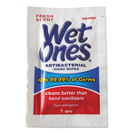 Wet Ones® Antibacterial Moist Towelettes, 5 x 7-1/2, White, 1-Ply