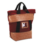 "PM Company Burgundy Fire-Resistant Locking Cash Transport Bag, 18""w x 8""d x 18""h"