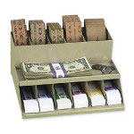 PM Company Coin Wrapper & Currency Band Rack, Pebble Beige