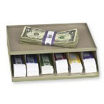 PM Company Coin Wrap or Bill Strap Rack, Pebble Beige