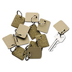 PM Company Extra Blank Tags for Portable Velcro® Security Backed Zippered Case, 12 per Pack