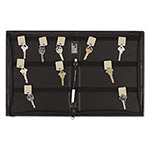PM Company Security Backed Zippered Case, 48 Key Tags, 9w x 11 5/8h, Black
