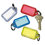 PM Company Extra Color Coded Key Tags For Key Tag Rack, 4 Tags/Pack