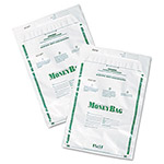 PM Company Biodegradable Plastic Money Bags, Tamper Evident, 15 1/4x11 3/4, White, 50/Pack
