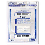 PM Company Triple Protection Tamper-Evident Deposit Bags, 20 x 24, Clear, 50/Pack