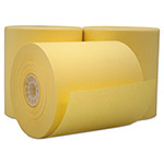 "PM Company Single Ply Cash Register/POS Rolls, 3"" x 165 ft., Canary, 50/Carton"