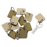 PM Company Extra Blank Tags for Portable Velcro Security Backed Zippered Case, 12 per Pack