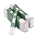 PM Company Self Adhesive White/Green Currency Bands, $200 Value, 1000 Bands per Pack