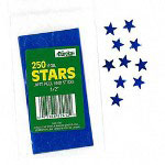 "Paper Magic Foil Stickers, Stars, Self Adhesive, 1/2"", Blue"