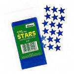 "Paper Magic Foil Stickers, Stars, Self Adhesive, 3/4"", Blue"