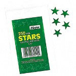 "Paper Magic Foil Stickers, Stars, Self Adhesive, 1/2"", Green"