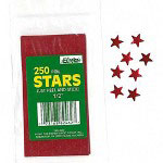 "Paper Magic Foil Stickers, Stars, Self Adhesive, 1/2"", Red"