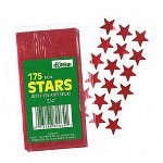 "Paper Magic Foil Stickers, Stars, Self Adhesive, 3/4"", Red"