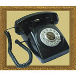 Paramount 1950 Desk Phone Black