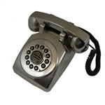 Paramount 1950 Desk Phone Silver