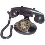 Paramount Alexis 1922 Decorator Phone, Black