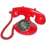 Paramount Alexis 1922 Decorator Phone, Red