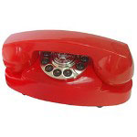 Paramount Princess 1959 Decorator Phone, Red