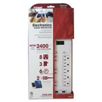 PRIME® Electronics Surge Protectors, 8 Outlets, 2400 Joules, White